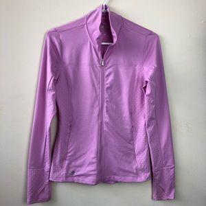 Adidas Golf Size XS Purple Zip Long Sleeve Shirt